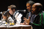 Gideon Kennedy on a panel at Seminario de Cinema